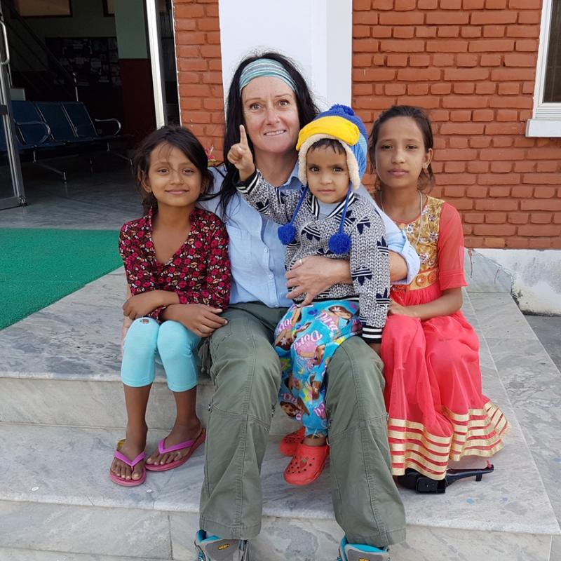 Sharon M in Nepal